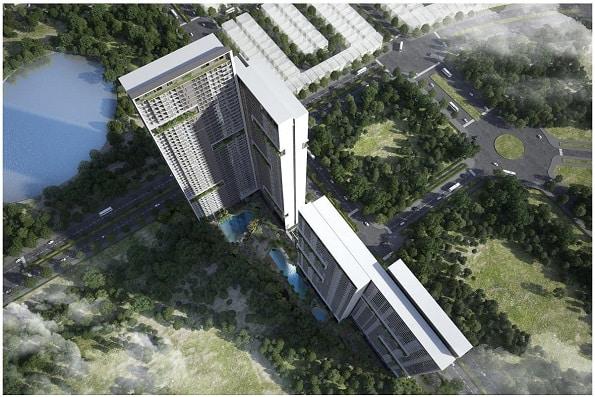 Mặt cắt từ trên xuống của dự án Anland Lakeview
