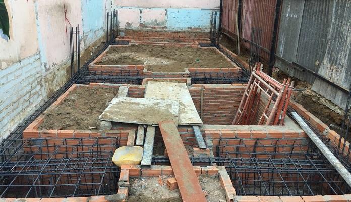 Phần móng chịu sức nặng của toàn bộ công trình bên trên
