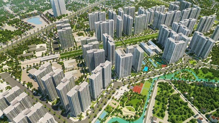 Dự án nằm trên trục đường Đại lộ Thăng Long vô cùng đắc địa