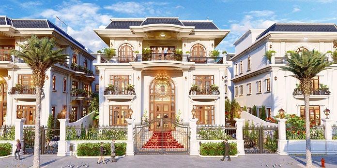 Kiến trúc biệt thự nhà phố sang trọng - đẳng cấp châu Âu