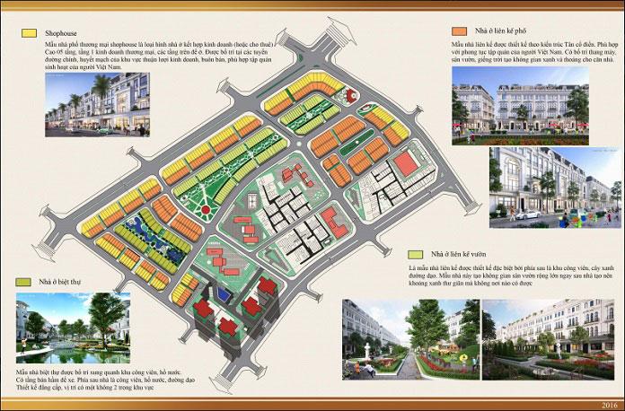 Mặt bằng tổng thể của dự án Louis City Hoàng Mai