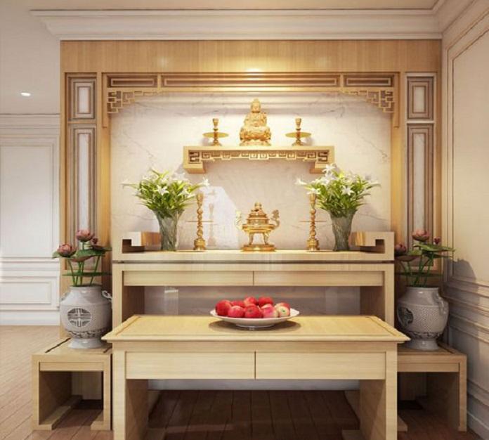 Mẫu bàn thờ treo tường hiện đại