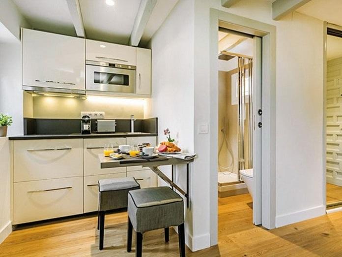 Thiết kế nhà bếp gần nhà vệ sinh