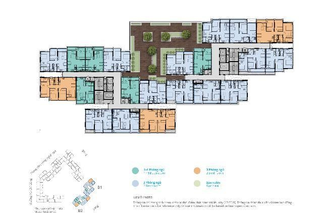 Block B của dự án Safira được bố trí với 21 căn hộ