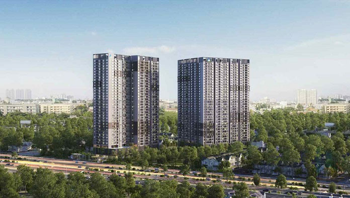 Opal boulevard nằm trên trục đường Phạm Văn Đồng