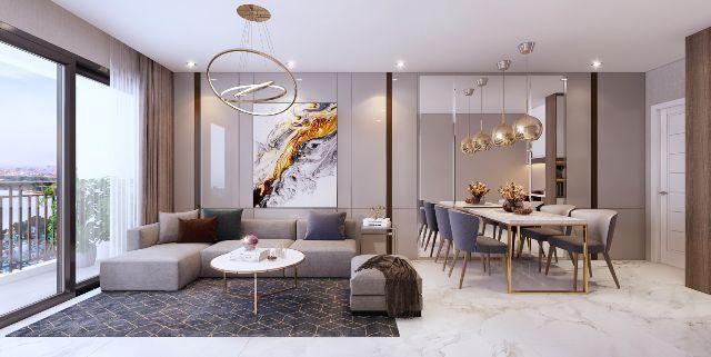 Phòng khách của các căn hộ tại Safira Khang Điền