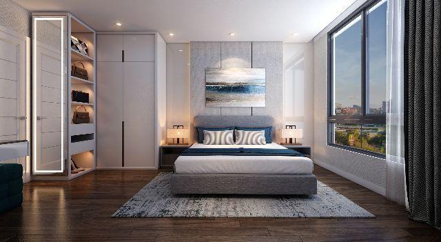 Phòng ngủ được thiết kế đơn giản nhưng đầy đủ tiện nghi
