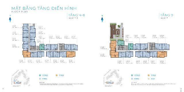 Thiết kế mặt bằng Safira Khang Điền tại tầng 3 của Block A