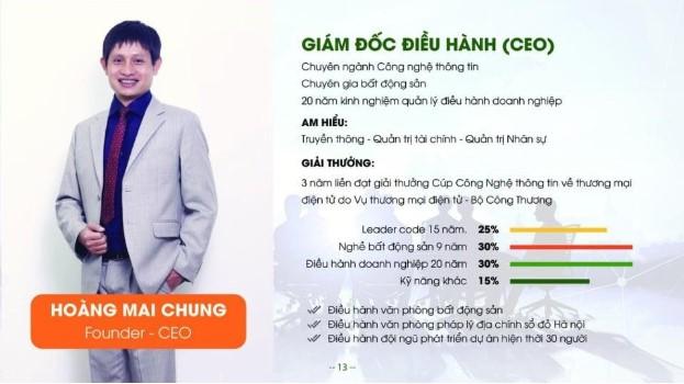 CEO Hoàng Mai Chung - Giám đốc điều hành tập đoàn bất động sản Meeyland