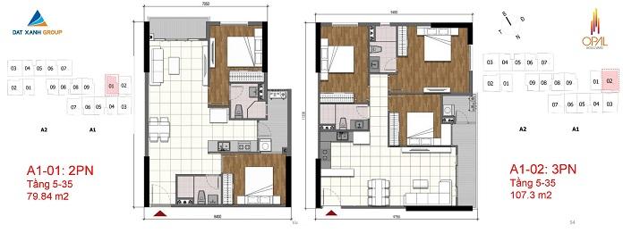 Mặt bằng chi tiết căn hộ tháp A